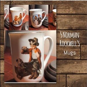 Vintage Norman Rockwell Mugs